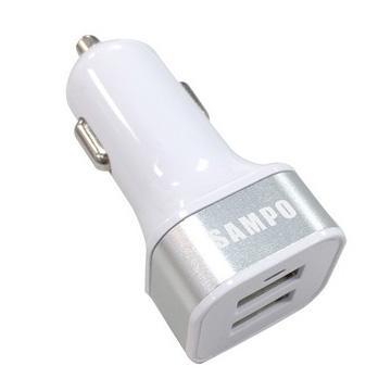 SAMPO USB車用充電器-銀(DQ-U1503CL)