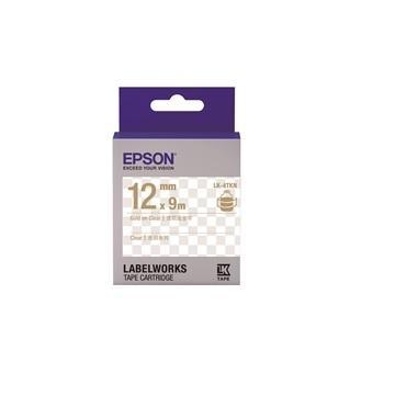 EPSON LK-4TKN透明系列 透明底金字标签带(C53S654409)