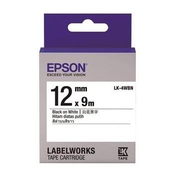 EPSON LK-4WBN Common系列白底黑字標籤帶