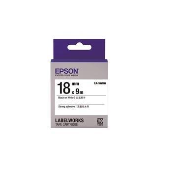 EPSON LK-5WBW高黏性系列白底黑字标签带(C53S655409)