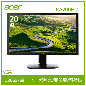 【福利品】【20型】ACER KA200HQ LED