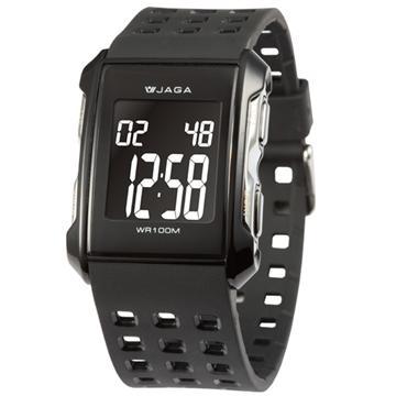 JAGA 捷卡 M807 多功能防水電子錶-黑(M807-A)