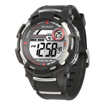 JAGA 捷卡 M819-A 防水多功能電子錶-黑(M819-A)