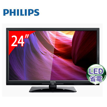 【福利品】 PHILIPS 24型LED顯示器(24PFH4200/96(視162674))