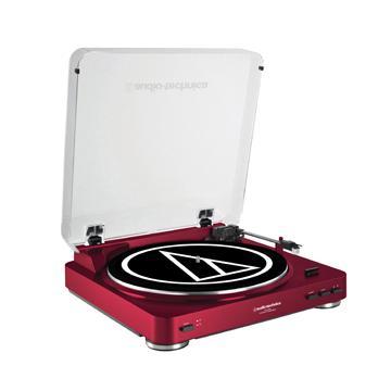 鐵三角 LP60黑膠唱盤-紅(AT-LP60 RD)