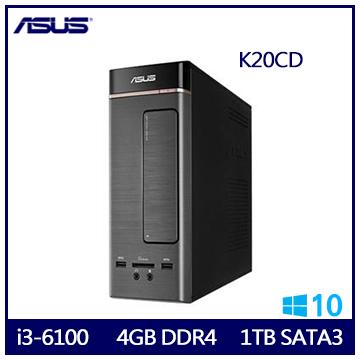 ASUS K20CD i3-6100 雙核文書桌上型電腦(K20CD-0021A610UMT)