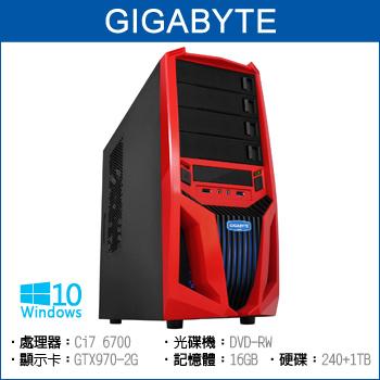 【福利品】Gigabyte Ci7 6700 16G 240+1TB GTX970 電競獨顯(LX3-TKB5670-6S1297)