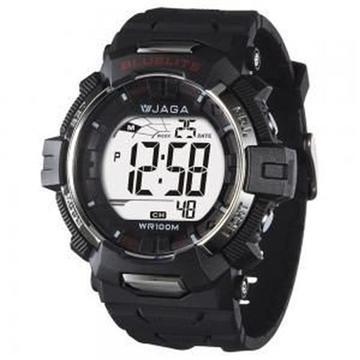 JAGA 捷卡 M979B-A 粗獷系列電子錶-黑(M979B-A)