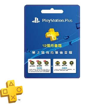 SONY PS PLUS 12個月會籍預付卡 PS PLUS 12M