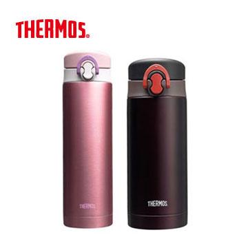 膳魔師彈跳真空保溫瓶500ml+350ml-粉紅+咖啡 JNF-500-P