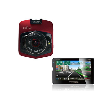 Fujitsu FD7行車記錄器 + Trywin 2合一多功能衛星導航 Fujitsu FD7-紅 | 快3網路商城~燦坤實體守護