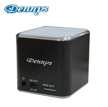 Dennys 插卡/FM 隨身方塊MP3喇叭-黑