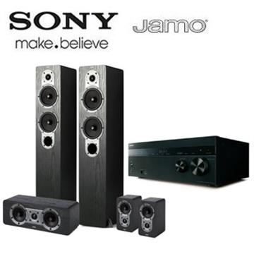 SONY Hi-Res/4K 擴大機+JAMO 喇叭劇院組(DN860+S426HCS3黑)