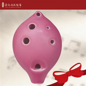 南投鼎記 中音C調6孔陶笛-粉紅色(C4-6)