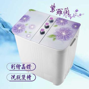 晶華ZANWA 4KG花漾雙槽洗衣機(ZW-168D)