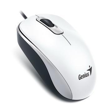 Genius 有线鼠标-优雅白