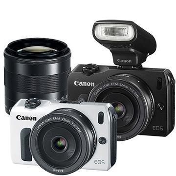 Canon EOS M2微單眼相機(閃燈+轉接環)-白(18-55+22 (中文平輸))