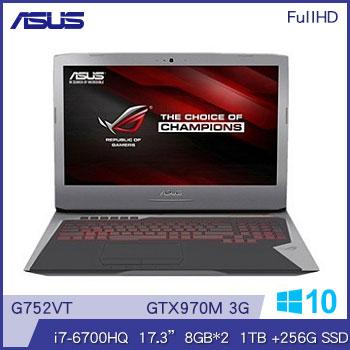 ASUS G752VT Ci7 GTX970 ROG 電競獨顯筆電(G752VT-0031A6700HQ)