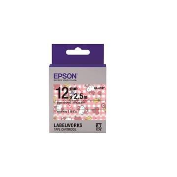 EPSON LK-4PBY Kitty系列粉红底黑字标签带(C53S654450)