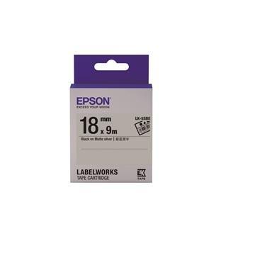 EPSON LK-5SBE资产管理系列银底黑字标签带(C53S655415)