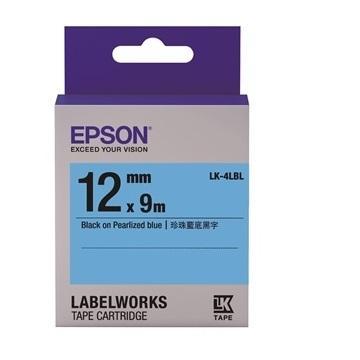 EPSON LK-4LBL珍珠彩系列蓝底黑字标签带(C53S654420)