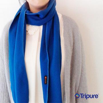 【樂齡網】i.pure保暖輕量刷毛圍巾(D1CO7328BLU0000)