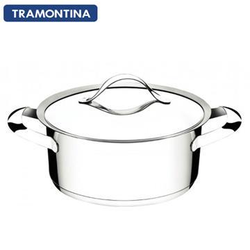 TRAMONTINA 24公分雙耳湯鍋4.7L(DUO 白金系列)