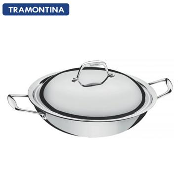 TRAMONTINA Gourmet 32公分雙耳炒鍋5.1L