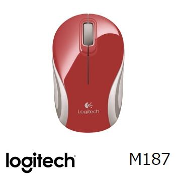 羅技M187無線迷你滑鼠-紅(910-002745)