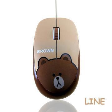 LINE有線滑鼠-熊大