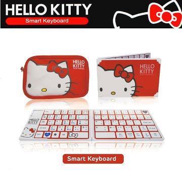 Hello Kitty折疊式藍芽鍵盤(附收納包)(KT-BT1245)