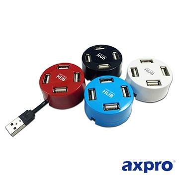 AXPRO AXP815 圓形直插式4埠集線器(AXP815)