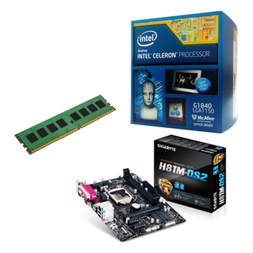 INTEL G1840 + ASUS H81M-DS2 + 4G()