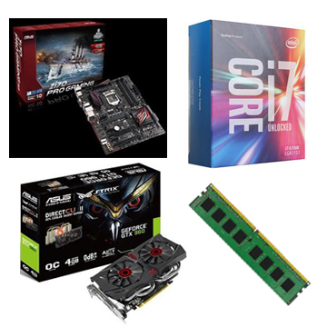 INTEL 第六代 i7 6700K  + ASUS Z170 PRO GAMING + 8G + GTX960()