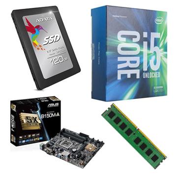 INTEL 第六代 i5 6400 + ASUS B150M-A + 8G + 120GB SSD()