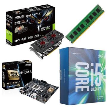 INTEL 第六代 i5 6400 + ASUS H110M-A + 8G + GTX960()