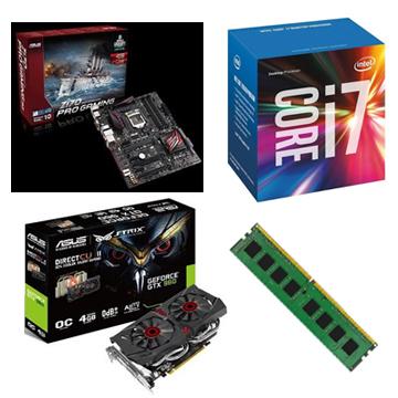 INTEL 第六代 i7 6700 + ASUS Z170 PRO GAMING + 8G + GTX960()