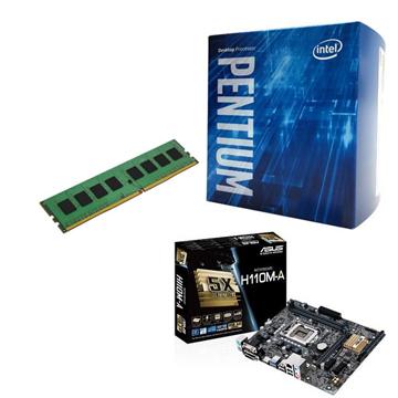 INTEL 第六代 Pentium G4400 + ASUS H110M-A + 4G()