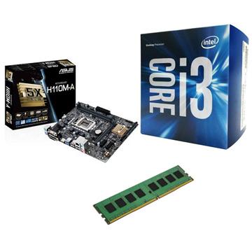 INTEL 第六代 i3 6100 + ASUS H110M-A + 4G()