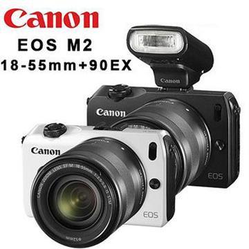 Canon EOS M2 18-55mm KIT組+90EX閃光燈-藍(EOS M2 (中文平輸))