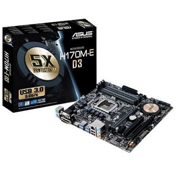 ASUS華碩 H170系列micro-ATX主機板(H170M-E D3)