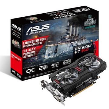 ASUS華碩 R7 360 顯示卡(R7360-DC2OC-2GD5)