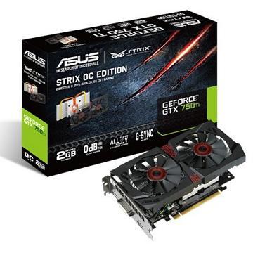 華碩GeForceR GTX 750 Ti OC版高效能繪圖卡 STRIX-GTX750TI-OC-2G