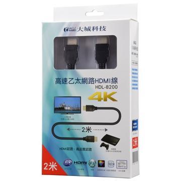 Townward 3D高速乙太網HDMI線2M