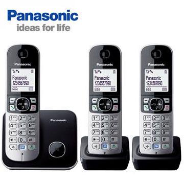 Panasonic中文顯示三機數位無線電話(KX-TG6813TW)
