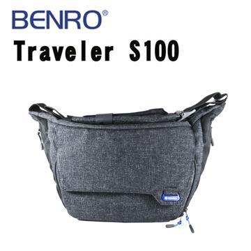 BENRO 百諾 TRAVELER S100 行攝者系列 單肩攝影側背包 (勝興公司貨) 黑色(行攝者系列-黑色)