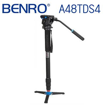 BENRO 百諾 C48TDS4 油壓雲台單腳架套組(碳纖維旋扭式)
