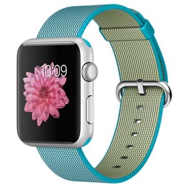 【42mm】Apple Watch Sport 湖水藍色尼龍 / 銀色鋁金屬(MMFM2TA/A)