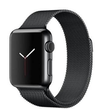~38mm~Apple Watch 米蘭式錶環  太空黑不鏽鋼