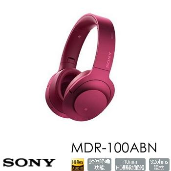 SONY MDR-100ABN無線藍牙降噪耳機-粉(MDR-100ABNPME)